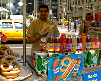 Hot Dog Vendor on Sixth Avenue